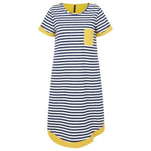 Foil Stripe Two Tone Colour Dress