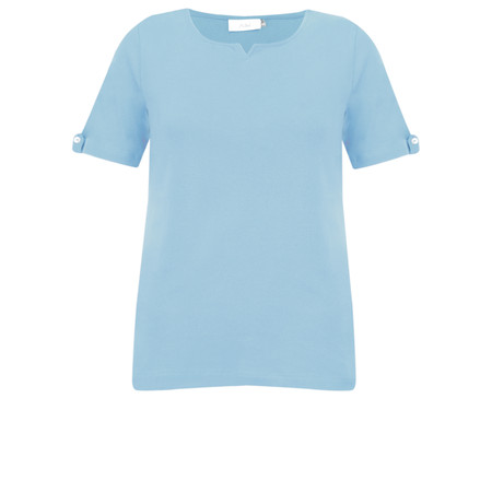 Adini Cotton Rib Julia Top - Blue