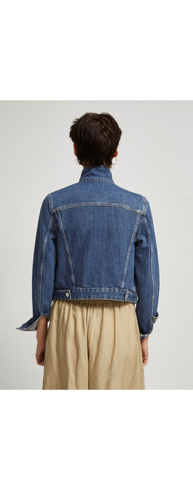 French Connection Western Denim Jacket Washed Vintage