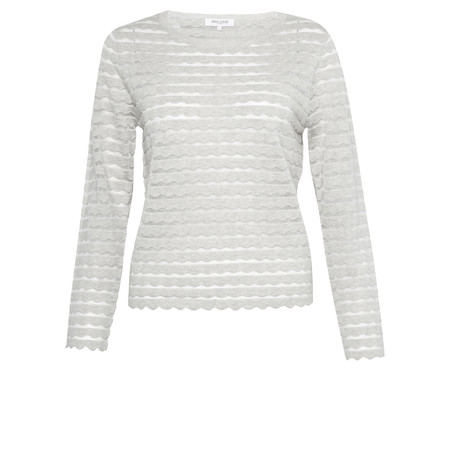 Great Plains Sunday Scallop Jumper - Grey