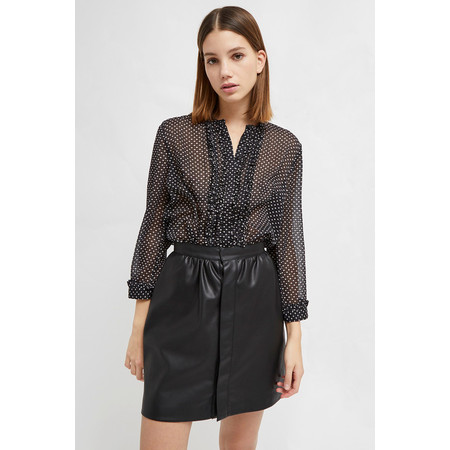 French Connection Caressa Ditsy Print Crinkle Shirt - Blue