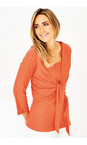 Adini Tangerine Cotton Slub Sylvia Wrap Top