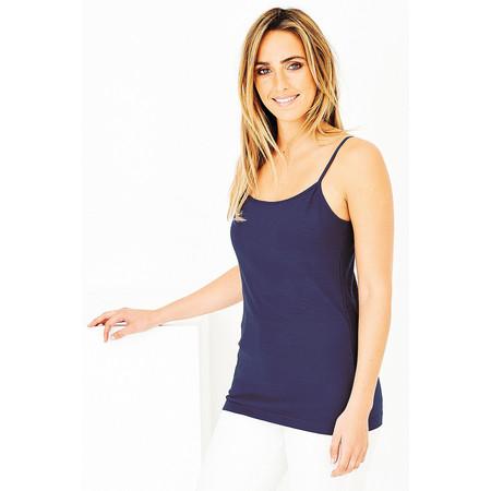 Adini Cotton Slub Skye Camisole - Blue