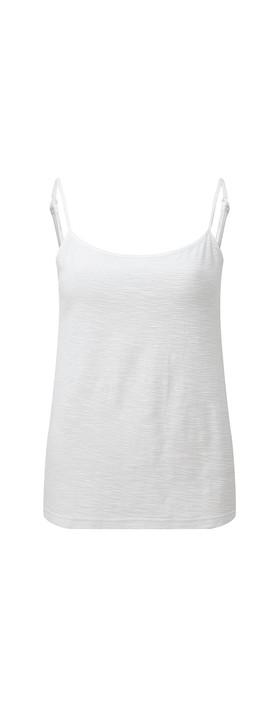 Adini Cotton Slub Skye Camisole White 19