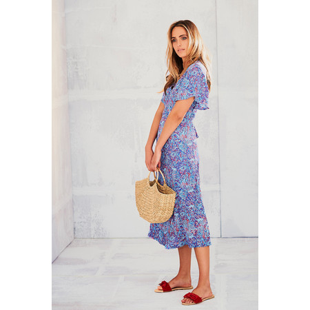 Adini Cora Print Cora Dress - Blue