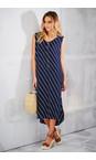 Adini Royal Blue Bandhini Print Bandhini Dress