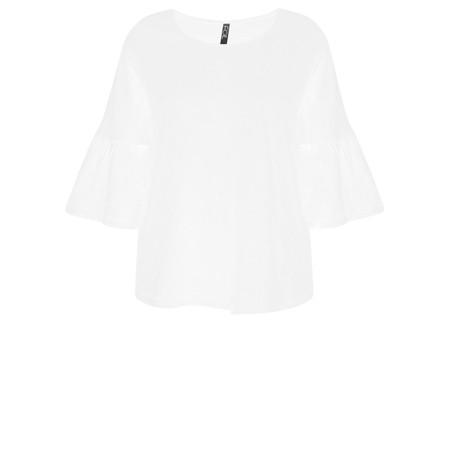 f9271b1b96e Foil Frill Sleeve Top - White