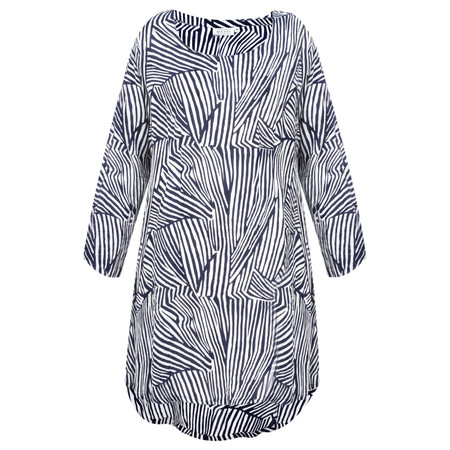 Masai Clothing Gamila Abstract Tunic - Blue