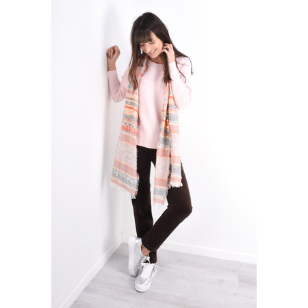 Robell  Marie Stretch Cotton Velvet Slim Full Length Trouser - Brown