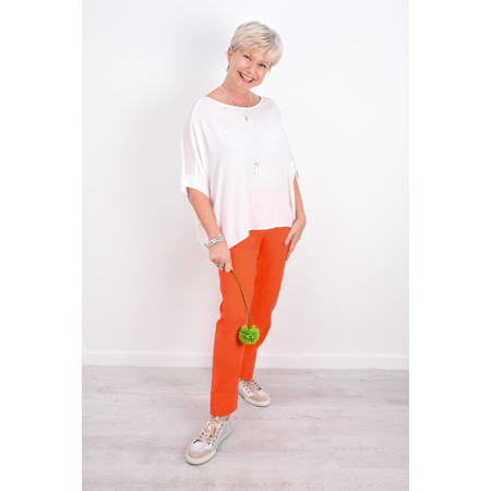 Robell Trousers Bella 09 Ankle Length 7/8 Cuff Trouser - Orange