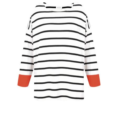 Masai Clothing Deba Stripe Top - Black