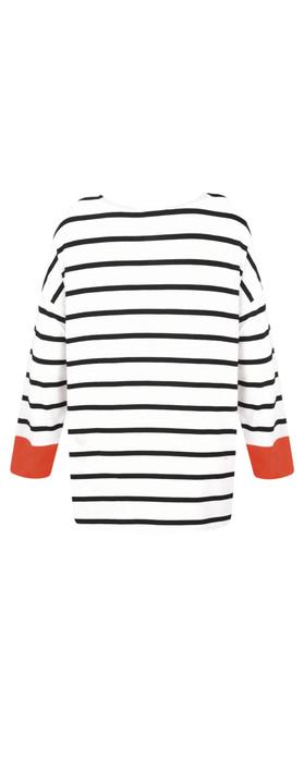 Masai Clothing Deba Stripe Top Black