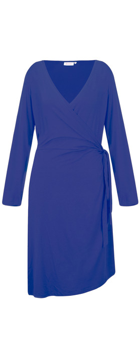 Masai Clothing Neba Wrap Dress Greek Blue