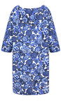 Masai Clothing Greek Blue Org Floral Print Garnette Tunic Dress