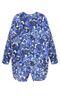 Masai Clothing Greek Blue Org Floral Print Ida Blouse