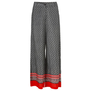 Masai Clothing Perinus Abstract Print Trouser With Border