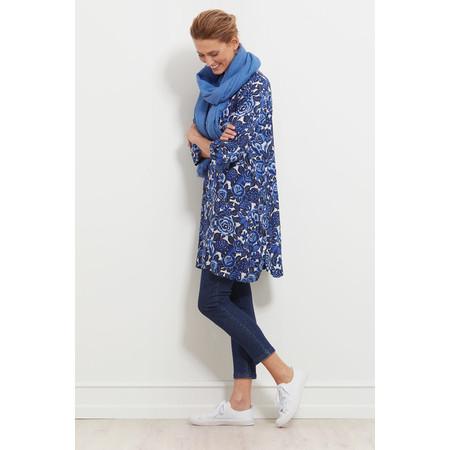 Masai Clothing Floral Print Garnette Tunic Dress  - Blue