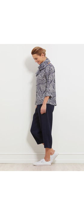 Masai Clothing Daina Abstract Top Navy Org