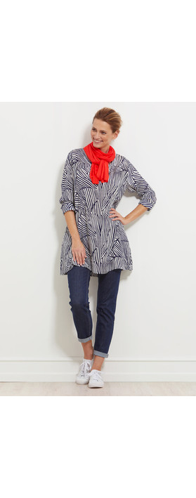 Masai Clothing Gamila Abstract Tunic Navy Org
