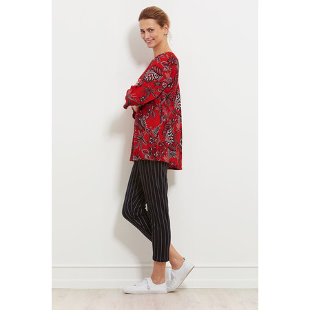 Masai Clothing Kiwi Tropical Floral Top - Red
