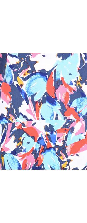 Adini Layla Print Jody Top Riviera Blue