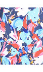 Adini Riviera Blue Layla Print Jody Top