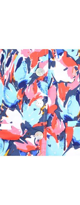 Adini Layla Print Amelia Jacket Riviera Blue