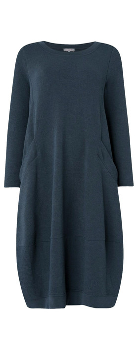 Sahara Textured Jersey Bubble Dress Kingfisher