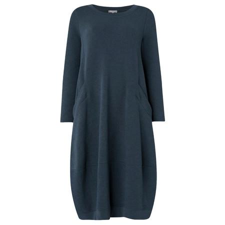 Sahara Textured Jersey Bubble Dress - Blue
