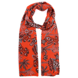 Masai Clothing Along Tropical Floral Scarf