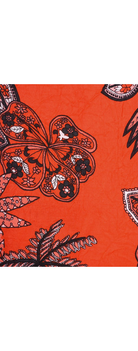 Masai Clothing Along Tropical Floral Scarf Chili Org