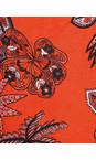 Masai Clothing Chili Org Along Tropical Floral Scarf