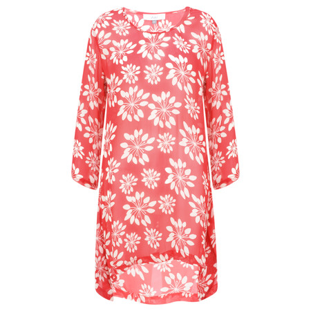Adini Grass Lily Print Grass Lily Tunic - Red