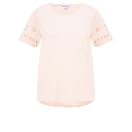 Great Plains Bali Embroidery Jersey Top - Pink