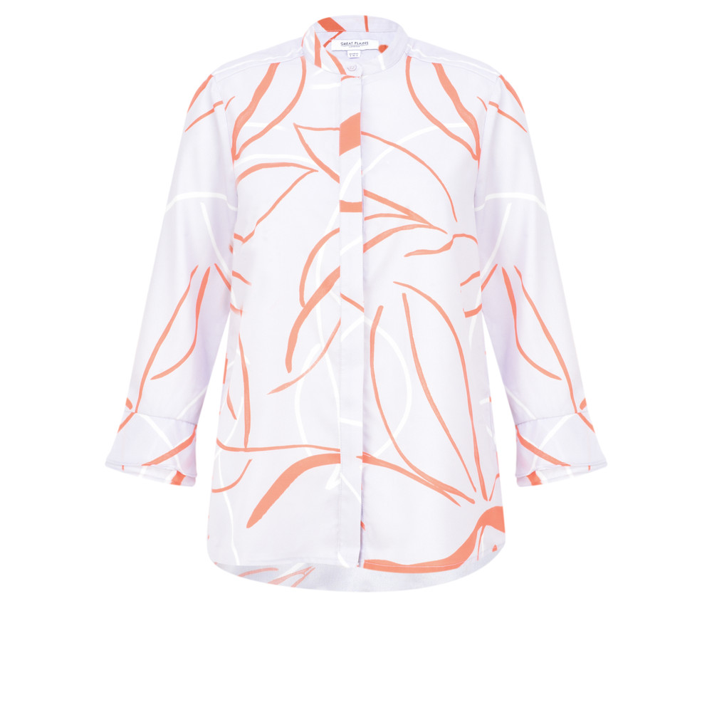 Great Plains Ava Abstract Blouse Misty Lilac Combo