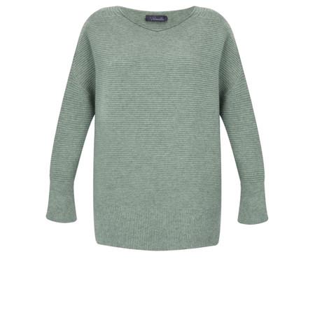Fenella  Frenchie Easyfit Rib Knit Jumper - Green