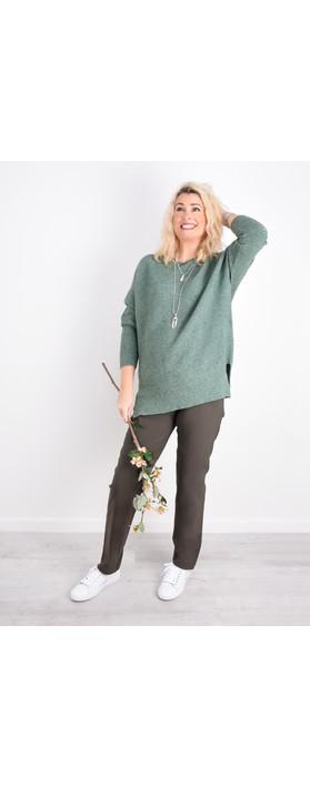 Robell Trousers Bella 78cm Slim Full Length Trouser Almond