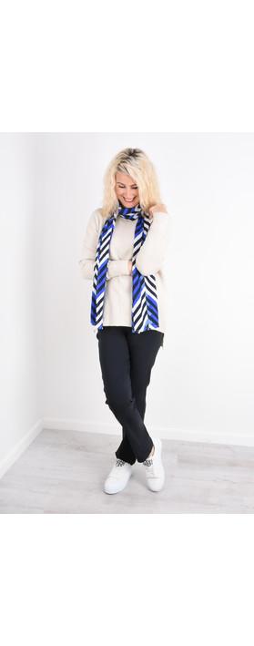 Robell Trousers Bella 78cm Slim Full Length Trouser Navy