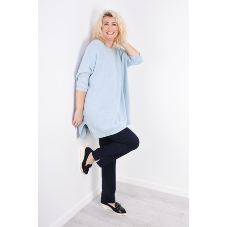 Fenella  Reva Oversized Supersoft Knit - Blue