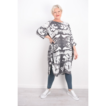 Grizas Vasara Printed Jersey Oversized Tunic - Blue