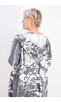 Grizas White/grey Agnese Printed Jersey Coatigan