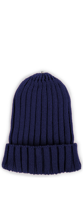 Bitz of Glitz Anna Ribbed Beanie Hat Navy