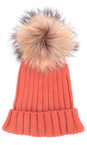 Bitz of Glitz Coral Anna Ribbed Beanie Hat
