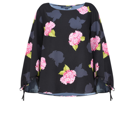 French Connection Eleanor Bold Floral Top - Black