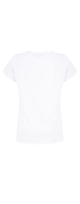 French Connection Ananas Tee Top White/Black