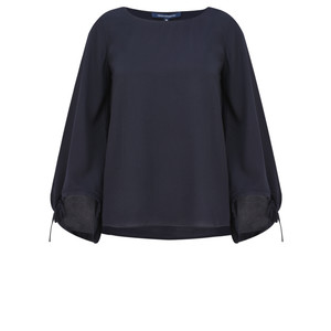 French Connection Crepe Fluted Sleeve Blouse