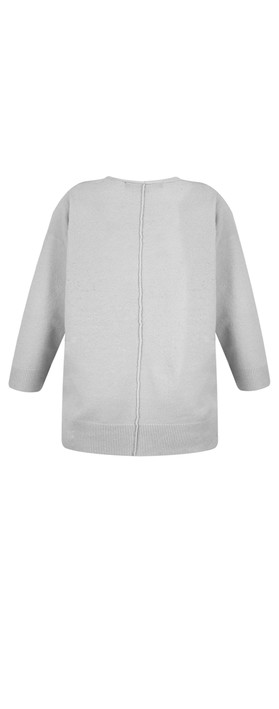French Connection Ebba Vhari Jumper Light Grey Mel