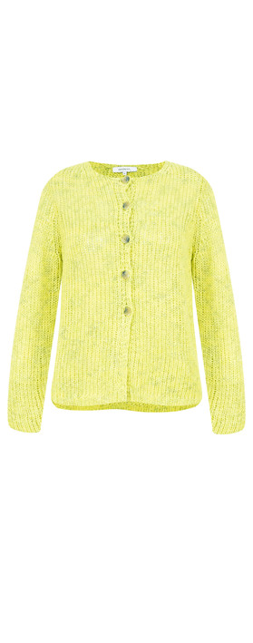 Sandwich Clothing Two Colour Knit Cardigan Warm Yellow