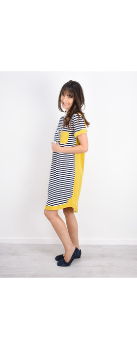 Foil Stripe Two Tone Colour Dress Stripe Dijon
