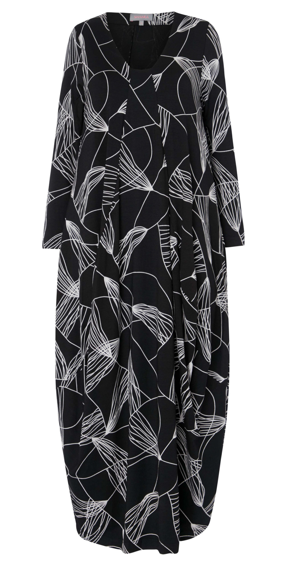 Abstract Line Jersey Dress main image